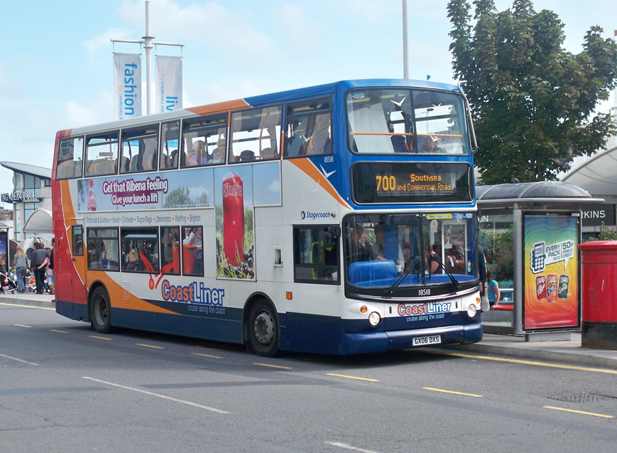 15158 A Alexander Dennis Trident Is Operating Coastliner Route 700 To Southsea From Brightons Pool Valley Bus Station On The 6th September 2009